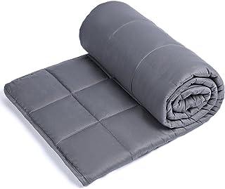 Anjee Adult Weighted Blanket Gewichtete Decke, 11.3 kg gewichtete Decke für 110-160kg Personen, für besseren Schlaf 150 x 200 cm, Grau