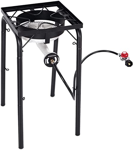 new arrival Giantex Portable Propane 200,000-BTU Single Burner Outdoor outlet sale Stove Cooker sale Standing Camping Cooking Stove w/ CSA Listed High Pressure Regulator, Hose, Adjustable Legs outlet online sale