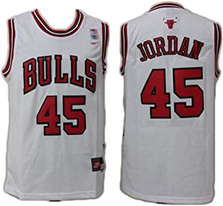 Suitable for The Bulls No. 45 Michael Basketball Jersey, Classic Memorial Basketball Uniform, Classic Retro mesh 94-95 Jersey, Suitable for Commemoration and Collection