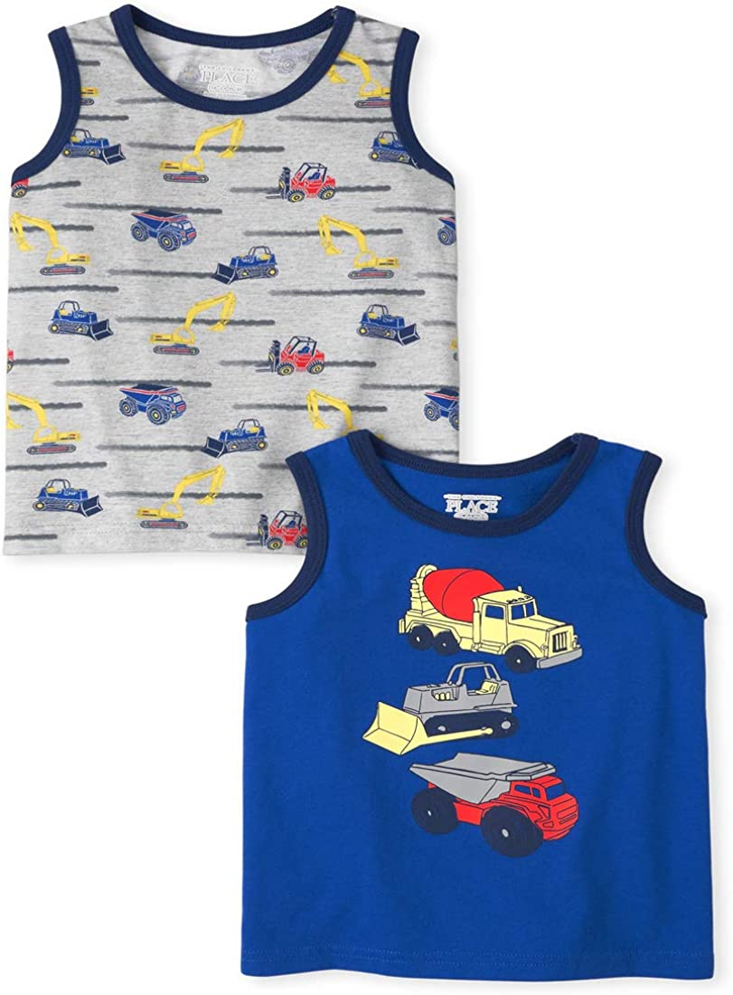 The Children's Place Baby Boys' Trunk Tank Tops, Pack of Two