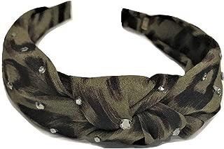 Bari Lynn Crystallized Camouflage Knot Headband