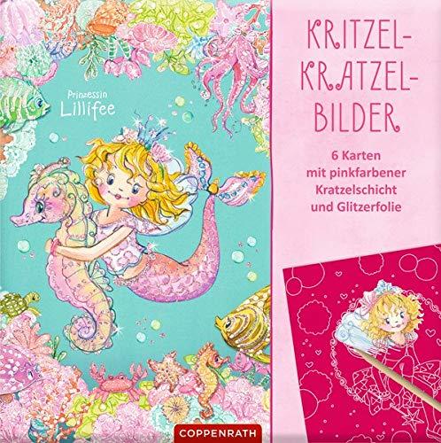 Prinzessin Lillifee: Kritzel-Kratzel-Bilder: 6 Karten mit pinkfarbener Kratzelschicht und Glitzerfolie