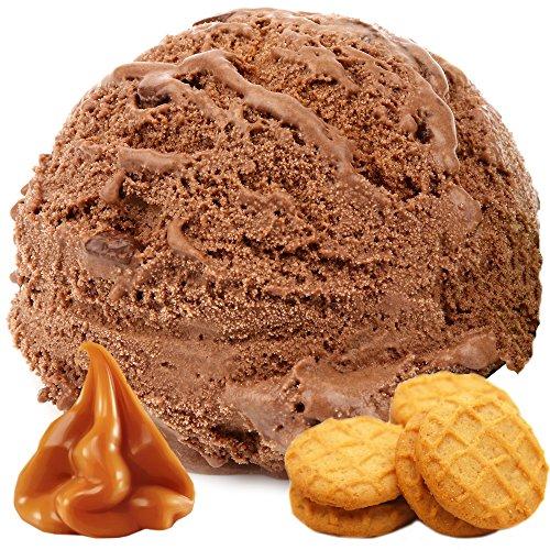 Schoko Karamell Keks Dänisches Softeis Gino Gelati Eispulver Softeispulver Speiseeispulver (1kg)