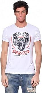 Maglietta da uomo Von Dutch, scollo rotondo, colore: bianco, taglia S