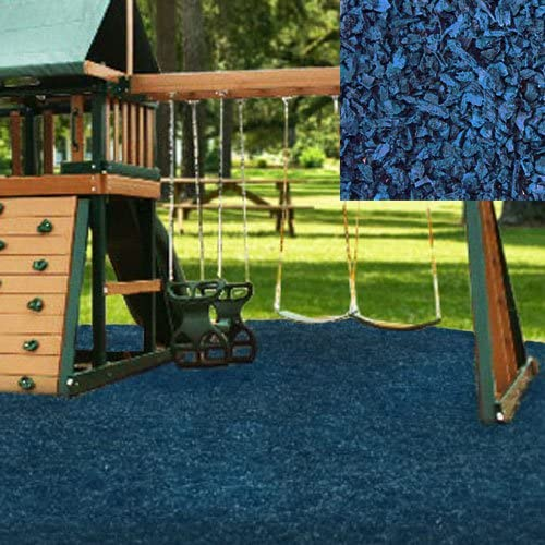 KIDWISE Playground 5 ☆ popular Bombing new work Rubber Mulch 75 Pallet-Blue - Cu.Ft. On