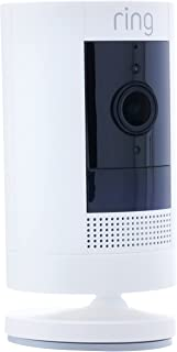 Ring Stick-Up Plug-In Cam - Wi-Fi Smart Home Security Camera White-Wired - Two way talk - Full HD live video- Indoor/Outd...