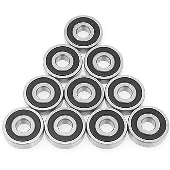 10pcs 6200-2RS Mini cuscinetti a sfera in acciaio Double Side Cuscinetti a sfere a gola profonda sigillati 10 * 30 * 9mm