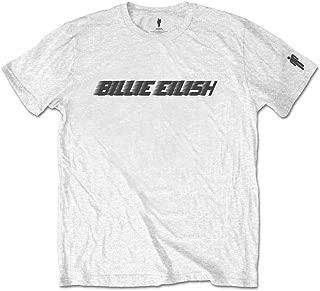 Billie Eilish 'Black Racer Logo' (Blanco) T-Shirt