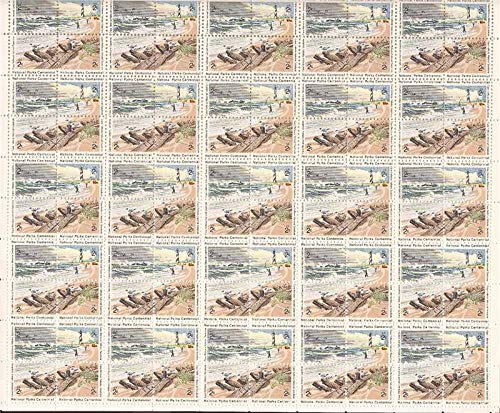 National Parks Centennial Sheet of 100 x 2 Cent US Postage Stamps Scot 1448-51