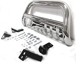 Motorhot Bull Bar Push Bumper Grill Grille Guard Chrome fit for 05-15 Toyota Tacoma