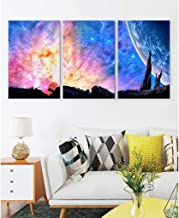 Ziwa88 Starry Sky Wall Décor Art - [ratg1] Canvas Print Walls Painting Artwork High Definition for Wall Decoration 3 Pics 12×16