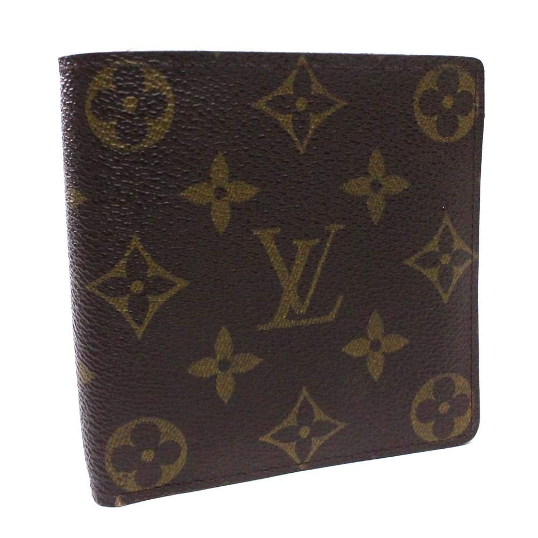 ルイ ヴィトン LOUIS VUITTON ポルトフォイユ マルコ モノグラム M61675 二つ折り財布 ブラウン ユニセックス モノグラムキャンバス [中古]