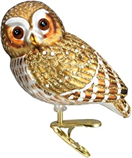 Old World Christmas Glass Blown Ornaments for Christmas Tree Pygmy Owl