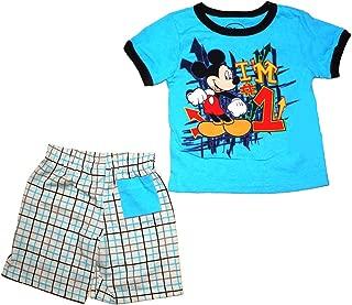 Disney Mickey Mouse I 'm # 1T Camisa y Short Set y Azul Marino y Verde
