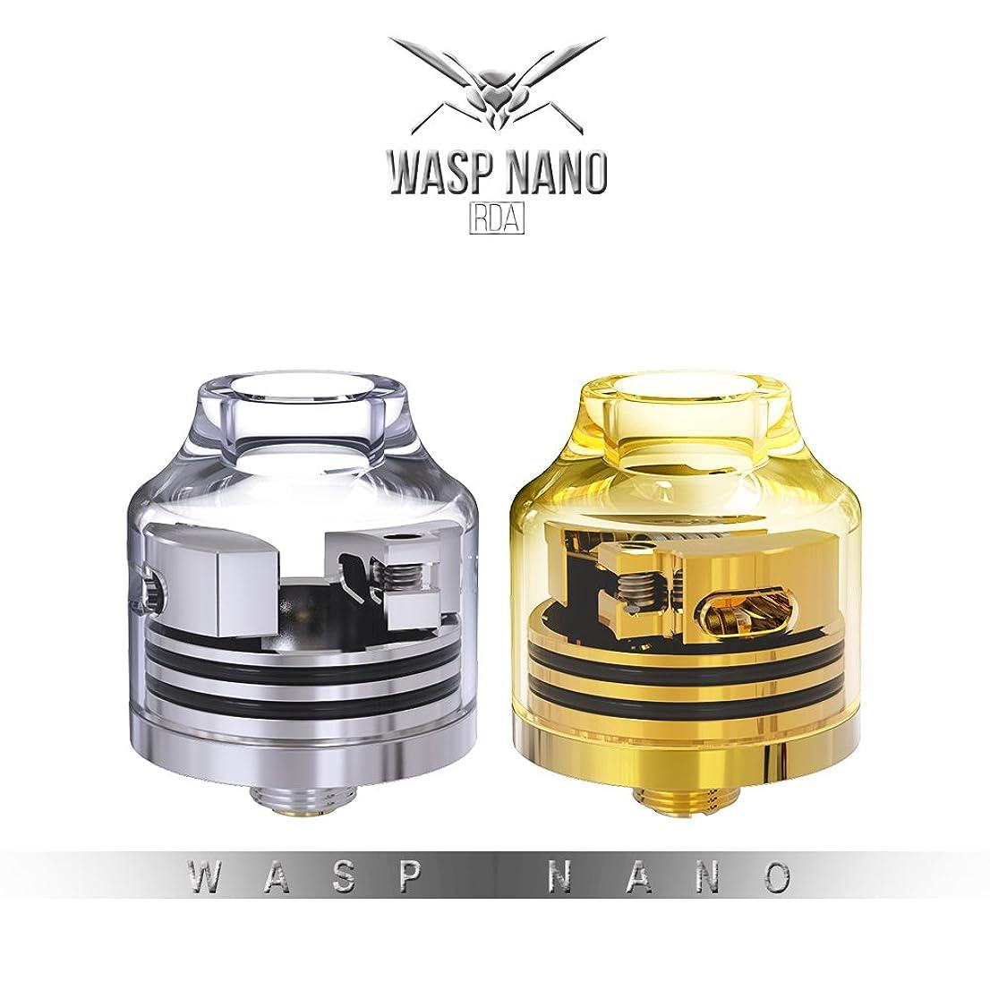 徐々に制約パスポート電子タバコ アトマイザー RDA Oumier Wasp Nano RDA Transparent Version (オウミアー ワスプ ナノ アールディエー 透明バージョン) (② ゴールド)
