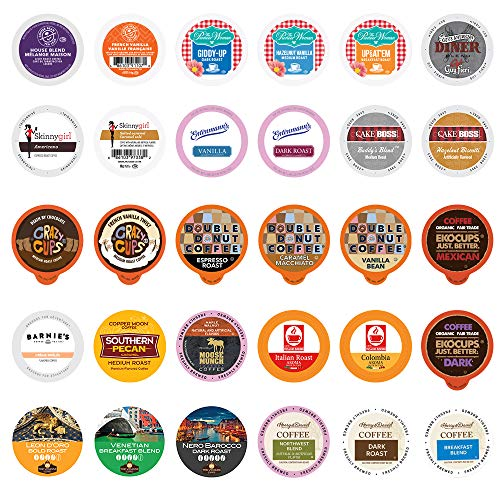 Crazy Cups Custom Variety Pack Sampler, Assorted Single Serve Pods for Keurig K Cups Makers, Coffee, 30 Count