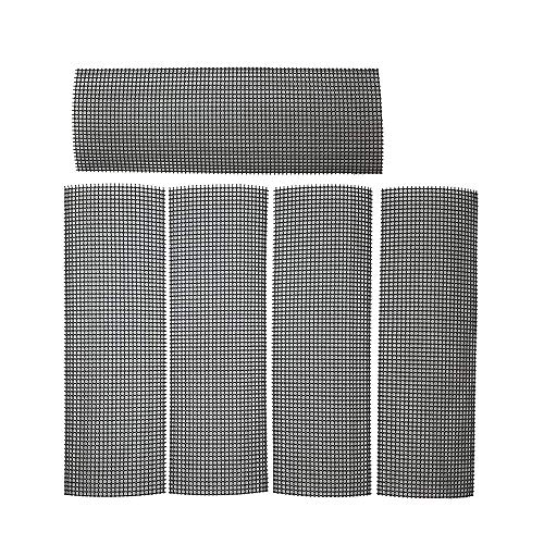 "Anleo Flower Pot Hole Mesh Pad Bottom Grid Mat 4""x12"" 5 Sheets- Prevent Soil Loss Anti-Corrosion Breathable Gasket- Drainage Netting for Bonsai"