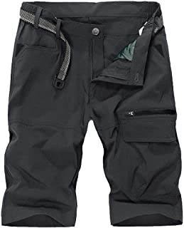 Kolongvangie Men's Outdoor Super Lightweight Quick Dry Stretchy Cargo Shorts with Multi Pockets (No Belt)