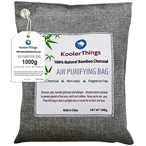 KoolerThings Bamboo Charcoal Air Purifying Bag (1000g) Natural Air Fresheners &...