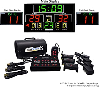 Innovatronix SureScore 2 Portable Wireless Basketball Scoreboard - Electronic Scoring System