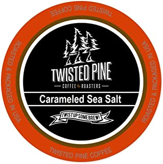 Twisted Pine Carameled Sea Salt Flavored Coffee, Single-Serve Cups for Keurig K-Cup Brewers, 24 Count