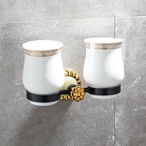 XBR Coupe carré Noir Golden Jade Brosse - Brosse Coupe européenne céramique Antique sculpté Titulaire,Un Saphir