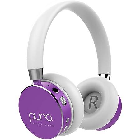 Puro Sound Labs ブルートゥース ワイヤレス ヘッドホン bluetooth4.0 ノイズ分離 ボリューム制限 子供向け 聴力保護 マイク付き Computer/Tablet/iPhone/Android Smartphoneなどに対応 BT2200 (パープル)