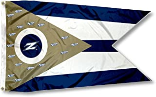 College Flags and Banners Co. Akron Zips State of Ohio Flag