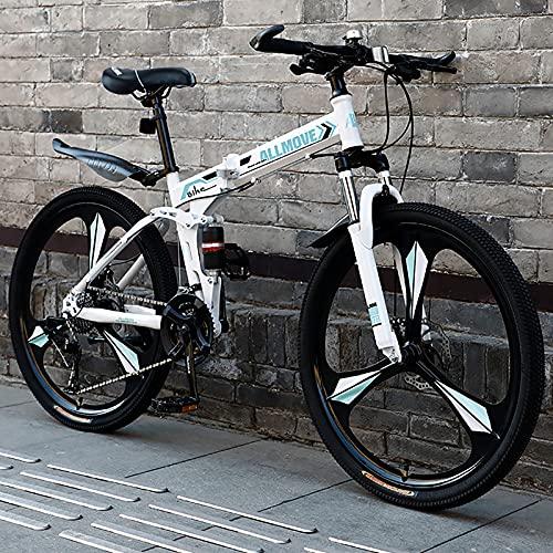 VIY Bicicleta de montaña prémium de 24 Pulgadas, para niños, niñas, Mujeres y Hombres, Cambio de 21 velocidades, suspensión Completa,C