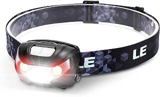 LE Linterna Frontal LED USB Recargable, Linterna Cabeza 5 Modos de Luz (Blanco y Rojo), Impermeable IPX4, Frontal LED Reca...