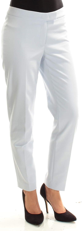 Anne Klein Womens Light Blue Flat Front Straight Leg Wear to Work Pants Size 0