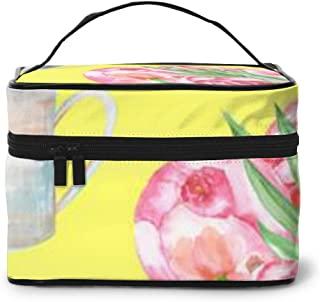 Portable Travel Toiletry Bag Organizer,A With The Red Peonies Flowers Cosmetic Bags For Women Girl,Makeup Bag, Storage Bag