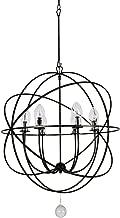 Crystorama Solaris Outdoor 6 Light Bronze Sphere Chandelier