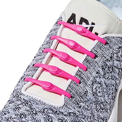 HICKIES Elastische Tie-Free Schuhbänder (2.0 Neu) - Neonpink