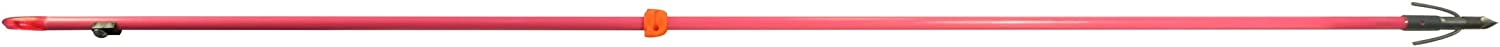 Ams Bowfishing Fiberglass Pink Arrow With Chaos Point & Safety Slide