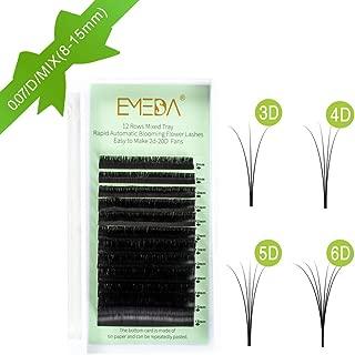 Volume Eyelash Extensions D Curl 2D 3D 4D 5D 6D~10D Easy Fan Cluster Automatic Blooming Flower Eye Lash Extension .07 8mm 10mm 12mm 14mm 0.07 Russian Individual Lashes(8-15mm Mixed Tray 0.07 D)