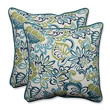 Pillow Perfect Outdoor/Indoor Zoe Mallard Throw Pillow (Set of 2), 18.5