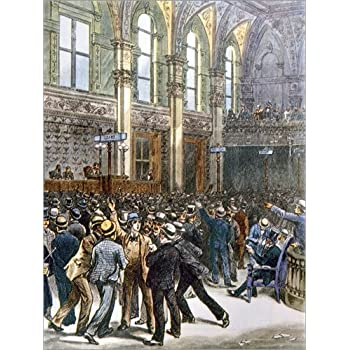 Poster 30 x 40 cm: New Yorker Börse 1893 von Everett Collection - hochwertiger Kunstdruck, neues Kunstposter