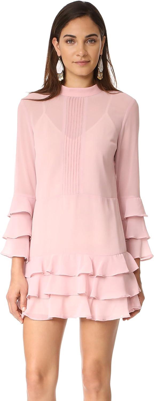 Endless pink Womens Ruffled Drop Waist Dress