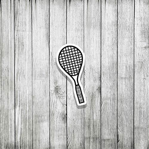 DKISEE (3 piezas/paquete de pegatinas de raqueta de tenis graffiti para parachoques para adolescentes, niñas, mujeres, pegatinas de vinilo de 10,16 cm