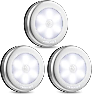 URPOWER Motion Sensor Closet Light, Motion-Sensing Battery Powered LED Stick-Anywhere Nightlight,Wall Light for Entrance,H...