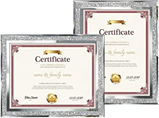 Amazing Roo 2 Pack 8.5x11 Picture Frames Tabletop Display 8.5 by 11 Inch Document Certificates Diploma Glass Photo Frame