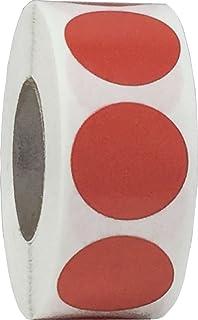 Rojas Pegatinas Circulares, 19 mm 3/4 Pulgadas Etiquetas de Puntos 500 Paquete