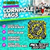 ACL Approved Cornhole Bags Regulation Size 16 Oz. Cornhole Bean Bags for Cornhole Toss Game. Professional Cornhole Bags Slick and Stick Sides, ACL Stamped Corn Hole Beans Bags (Yellow, 4 Bags / 16.00) #2