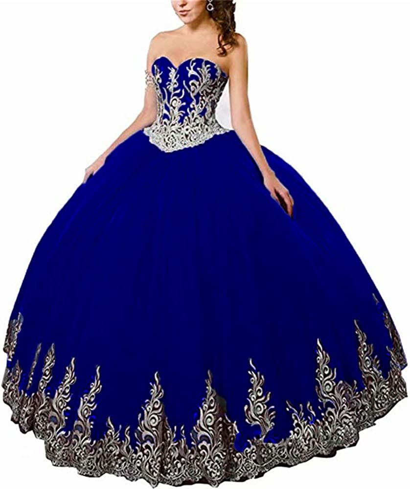 Ubride Juniors Quinceanera Dresses Ball Gown Girls Beads Appliques Sweet 16 Dress Graduation Pageant Prom Gowns