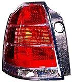 Iparlux 16536631, Piloto trasero izquierdo, sin portalámparas, blanco - rojo