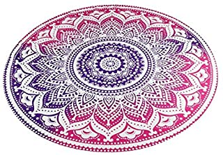 Beach Cover Up, Round Beach Pool Home Shower Towel Blanket Table Cloth Yoga Mat Bikini Boho Summer Dress Swimwear Bathing Suit Kimono Tunic