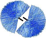 com-four 2 Cheerleader Pompons in Blau für Fasching, Karneval, andere Mottopartys oder zum Anfeuern...