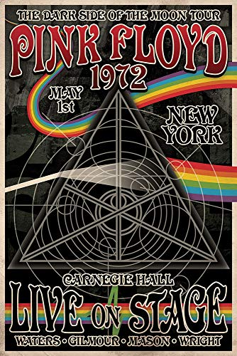"""Close Up Pink Floyd The Dark Side of The Moon Tour Poster [New York 1972] (24""""x36"""")"""