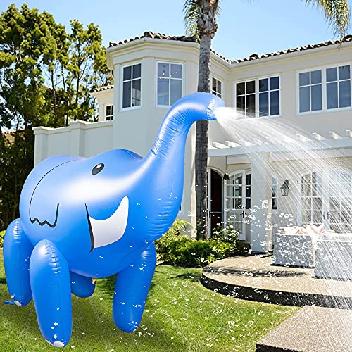 FUNPENY Inflatable Sprinkler, 5.2FT Giant Elephant Outdoor Yard Patio Summer Pool Party Water Toys for Backyard